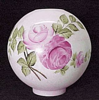 Gone with The Wind Ball Glass Oil Lamp Shade HPTD Roses