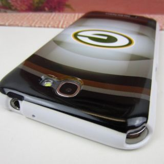 Note 2 II N7100 Rubber Silicone Case Cover Green Bay Packers