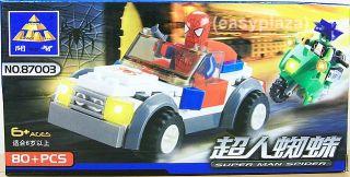 Spiderman Car 87003 Building Blocks Bricks Set Brand New Kazi Spider
