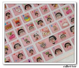 Cute Girl Desktop Laptop Notebook Keyboard PVC Stickers