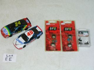 32 Slot Car NASCAR Gordon 24 Cooper 49 Axles Parts Set Track Lot EE