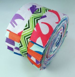 Zoo Menagerie Eleanore Gros Collection Jelly Roll 21 Fabric Quilting 2
