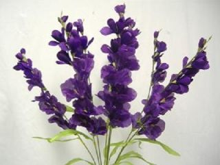 26 in Gladiola Bush PURPLE Silk Flowers, Artificial Plants, Wedding