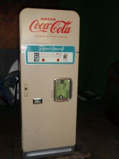 WOW 1950S GLASCO COCA COLA CUP VENDING MACHINE   COMPLETE   RARE