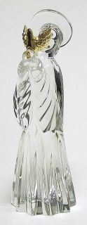 Gorham Crystal Nativity Figurine Angel with Dove 68364