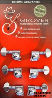 Grover 406C 3 x 3 Chrome Mini Self Lock Tuning Machine Heads SG