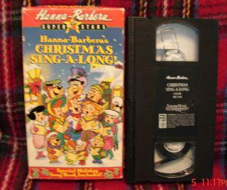 Hanna Barberas Christmas Sing Along VHS Video RARE Free 1st Class