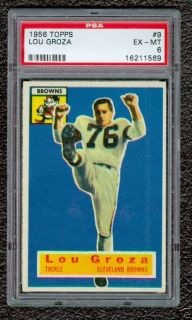 1956 Topps Lou Groza 9 PSA 6 Cleveland Browns Football