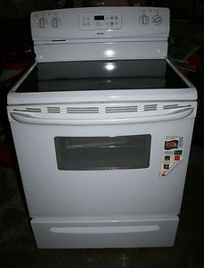 Brand New White Kenmore Glass Top Electric Range Stove 30