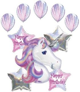 Unicorn Balloon Bouquet Decoration Happy Birthday Party Girl
