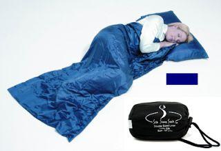 Grand Trunk Navy Blue Silk Sleep Gear Sack Double w/ Waterproof Stuff