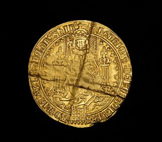 King Henry VIII Medieval English Hammered Gold First Coinage Sovereign