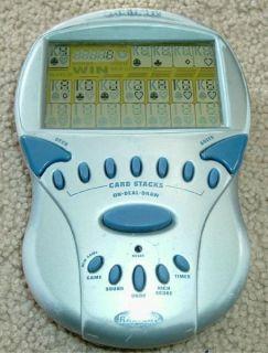 2000 Radica Big Screen Electronic Handheld Solitaire Game