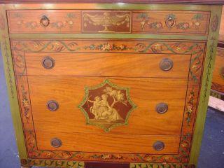 VTG JOHNSON HANDLEY WIDDICOMB BEDROOM SET SHABBY DRESSER BEDS TABLE