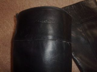 Eddie Bauer Black Leather Equestrian Riding Boots Size 7 B