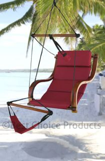 Hammock Air Chair Deluxe Padded Hanging Lounge Chair Outdoor Yard