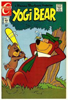 Hanna Barbera YOGI BEAR 1 VF NM 1970 CHARLTON COMIC BOOK Scarce First