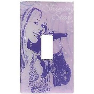 Disney Hannah Montana Girls Light Switch Plate Sticker