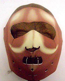 this awesome neoprene full face hannibal lechter restraint style