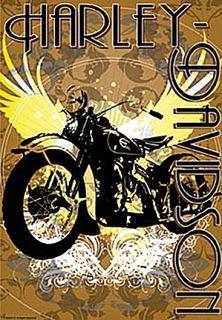 harley davidson vintage bike estate flag you re sure to enjoy this all