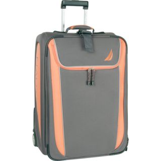 Nautica Spinnaker Expandable Gray Orange 25 Suitcase $340 New Hot