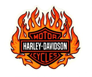 Vintage RARE Harley Davidson Authentic D37 Decal Sticker Flame Bar