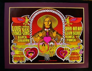 Black Sabbath Love James Gang RARE Fillmore West Poster Bill Graham BG