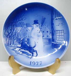 china plate dish decor Snowman Hans Christian Andersen Old Copenhagen