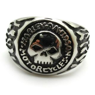 Used Harley Davidson Willie G Ring Size 13