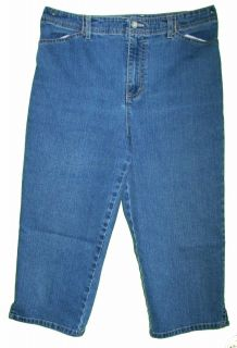 Gloria Vanderbilt Capris sz 12P Petite Womens Blue Jeans Denim Pants