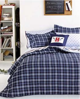 Tommy Hilfiger Grayson Blue Plaid Full Queen Comforter Set