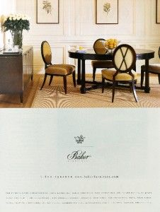 1999 Baker Furniture Barbara Barry CollectionPrint Ad