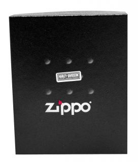 Zippo HDP6 Harley Davidson Black Lighter Pouch Gift Set New