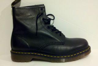 Dr Martens Doc Men 1460 Black Greasy Classic Boots New No Lid on Box