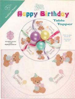 Precious Moments Happy Birthday Table Topper CS Pattern