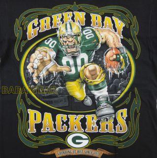 Packers Running Back T Shirt Black NFL Green Bay Football Baba