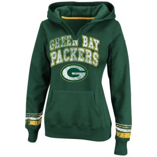 Green Bay Packers Green Womens Pre Season Favorite II Hooded