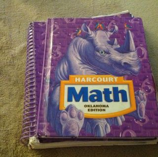 Harcourt Math 4th Grade Textbook and Spiral Edition