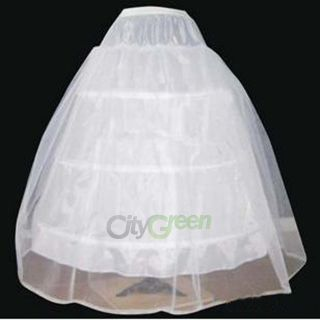New 3 Hoop 2 Layer Wedding Bridal Gown Dress Underskirt Petticoat