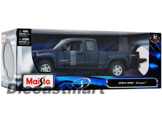 Maisto 1 18 2004 GMC Canyon New Diecast Model Pick Up Truck Metallic