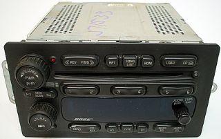 GMC Envoy 05 06 Model Factory Car Stereo Bose Premium 6CD Disc Changer