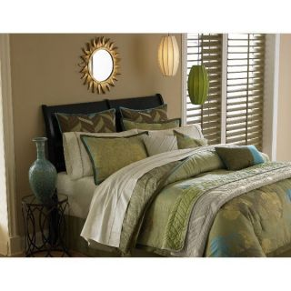 NEW Ty Pennington Eco Green Twin Comforter Set 6pc Reversible Free