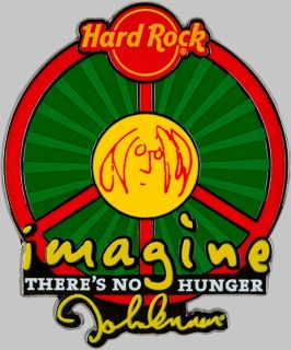 Hard Rock Cafe 2010 John Lennon Imagine Why Hunger Pin