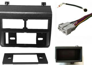 CHEVY/GMC BLACK Combo Radio DASH KIT/Wire Harness/Antenna Adapter