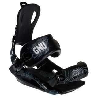 New GNU Street 2012 Snowboard Bindings Black Size L Rear Entry Ride On