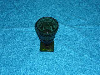 Vintage Indiana Glass Co Green Park Lane Wine Goblet
