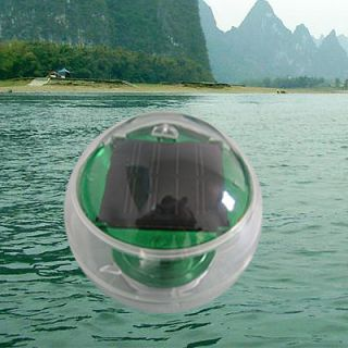 SOLAR POOL GLOBE POND FLOATING OR HANGING LIGHT GREEN