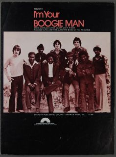 1976 IM Your Boogie Man Casey Finch K C and The Sunshine Band Sheet