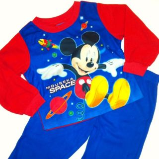 NEW Disney Mickey Mouse Boys 2 Pc Pajamas Set Shirt Pants 24 Months 3T
