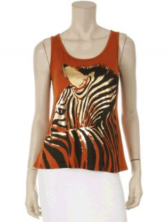 New Womens Zebra Animal Stripe Print Popular Sexy Hot Top Black Red T
